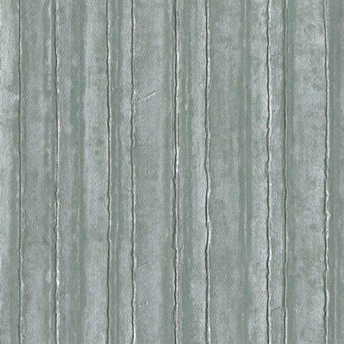 Industrial Interiors Vintage Tin Metallic Silvered Aqua and Teal Wallpaper
