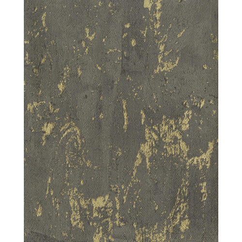York Wallcoverings Ronald Redding Industrial Interiors II Black And Gold Metallic Wallpaper
