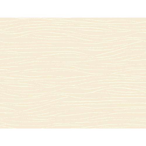Ronald Redding Sculptured Surfaces Off White and Cream Lagoon Wallpaper: Sample Swatch Only