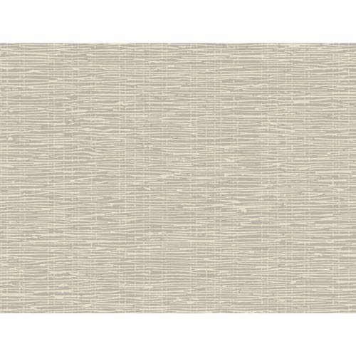Ronald Redding Sculptured Surfaces Silver and Cream Terrian Wallpaper: Sample Swatch Only