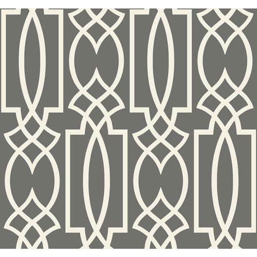 Ronald Redding Sculptured Surfaces Grey and Cream Tracery Wallpaper