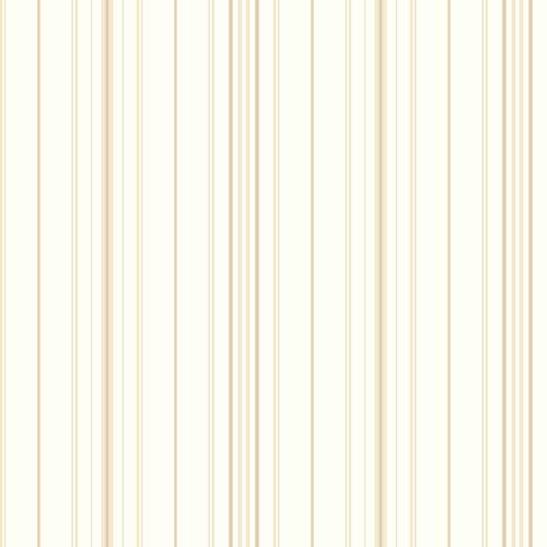 Inspired by Color White and Brown Wide Pinstripe Wallpaper