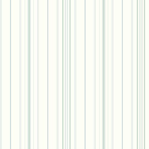 Inspired by Color White and Blue Wide Pinstripe Wallpaper