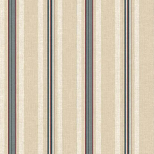 York Wallcoverings Inspired by Color Beige and Blue Multi Pinstripe Wallpaper