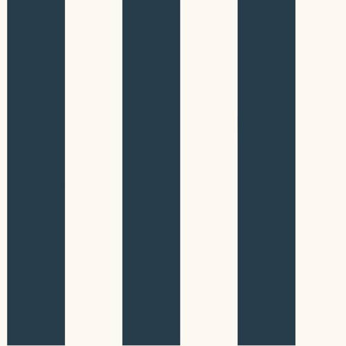 York Wallcoverings Inspired by Color Blue and White 3-Inch Every Room Needs a Stripe Wallpaper: Sample Swatch Only