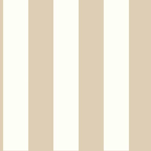 Ashford House Tropics Cream and Light Taupe 3-Inch Stripe Wallpaper: Sample Swatch Only