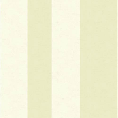 York Wallcoverings Inspired by Color Green and White Wide Stripe Wallpaper