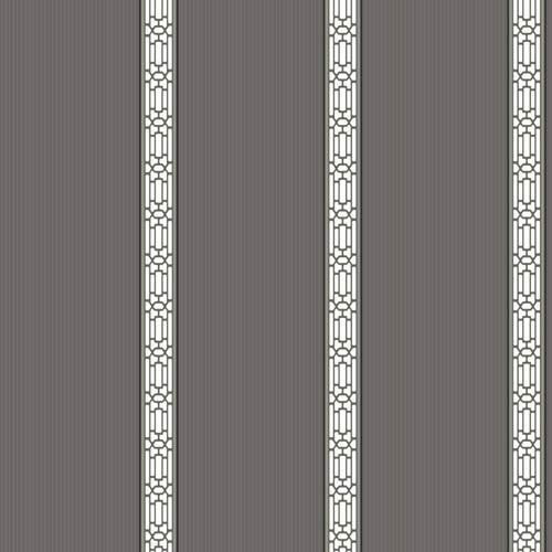 York Wallcoverings Ashford Black and White Wallpaper: Sample Swatch Only