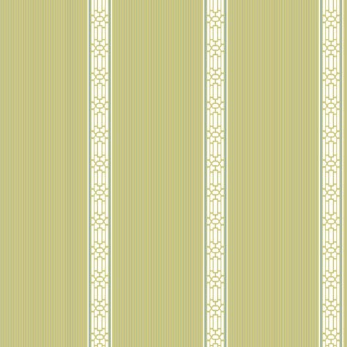 York Wallcoverings Inspired by Color Green and White Banding Stripe Wallpaper