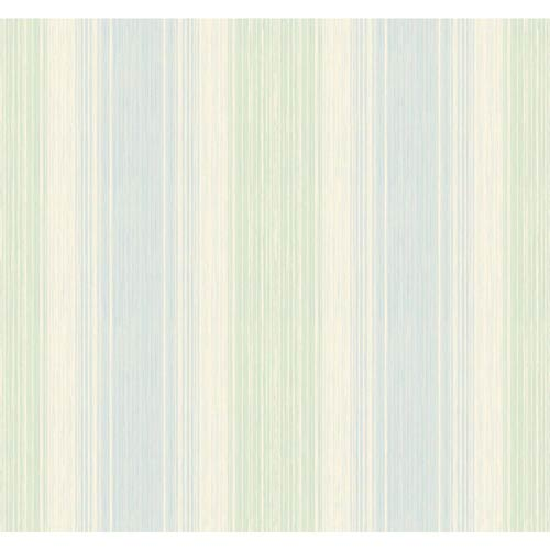 Inspired by Color Blue and Green Stria Wallpaper: Sample Swatch Only