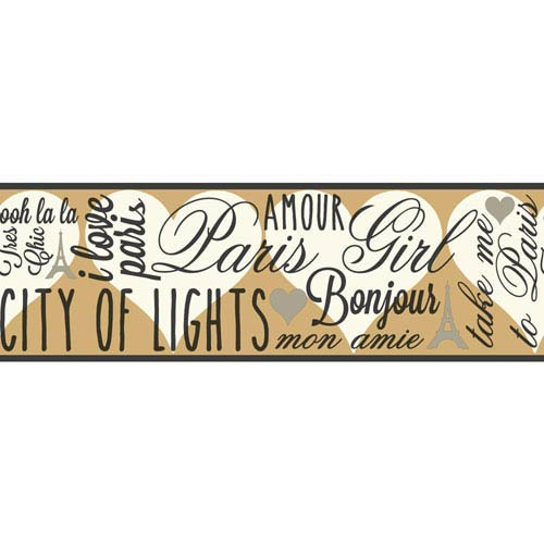 York Wallcoverings Brothers and Sisters V City of Lights Border- Sample Swatch Only