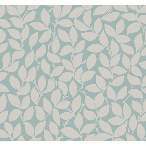 York Wallcoverings Masterworks Silver and Blue Botanical Wallpaper