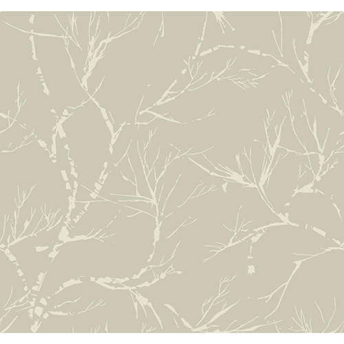 Masterworks Pewter Foliage Wallpaper