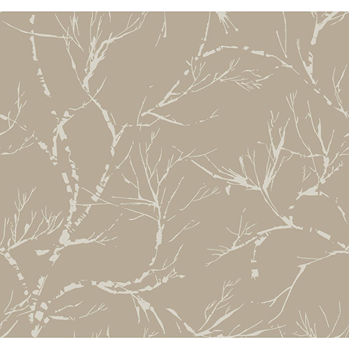 York Wallcoverings Masterworks Light Brown Foliage Wallpaper