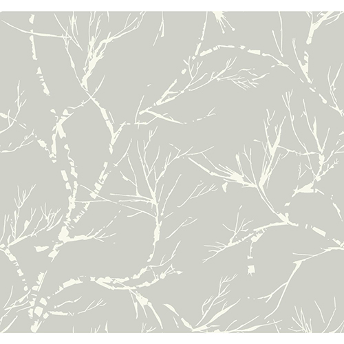Masterworks Gray Foliage Wallpaper - SAMPLE SWATCH ONLY