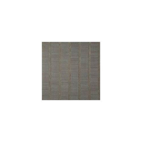 Ronald Redding Designer Resource Grey and Brown Grasscloth Chevron Sisal Wallpaper