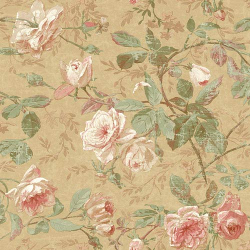 York Wallcoverings Vintage Luxe Floral Wallpaper