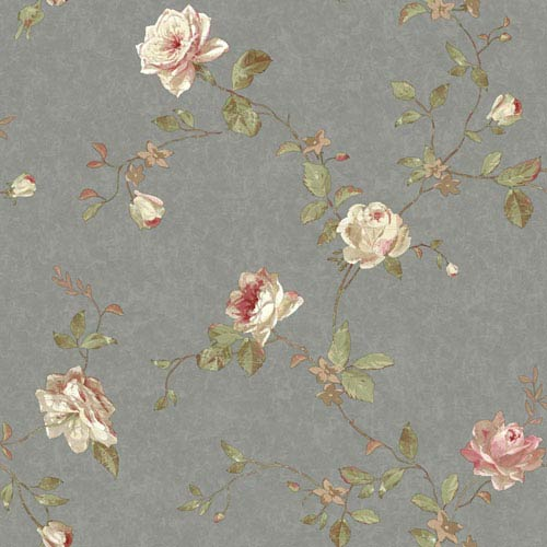ef61f165c4 York Wallcoverings Vintage Luxe Vintage Floral Trail Wallpaper ...