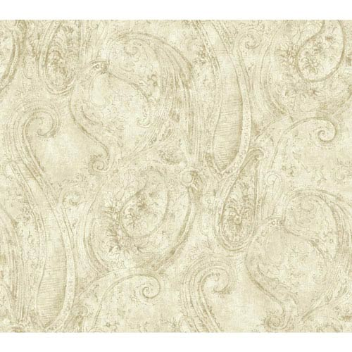 York Wallcoverings Vintage Luxe Sketched Paisley Wallpaper
