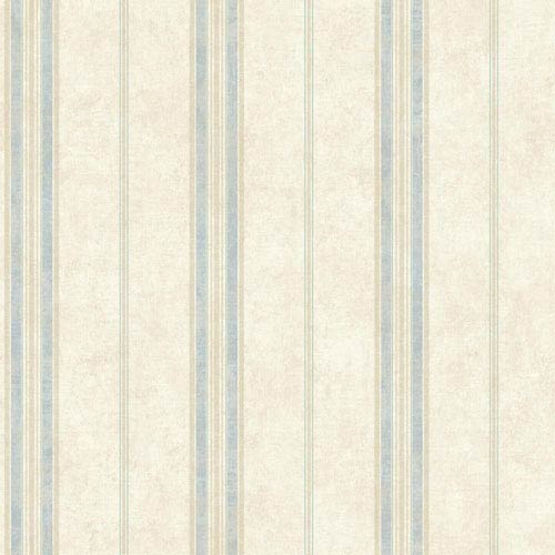 York Wallcoverings Vintage Luxe Cottage Stripe Wallpaper