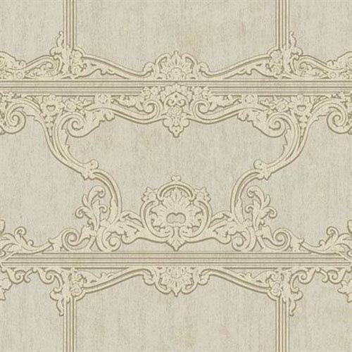 Silver Leaf II Venetia Metallic Silver, Soft Grey and Taupe Wallpaper
