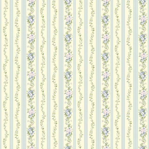 York Wallcoverings Inspired by Color Light Cream, Blue, Green and Lavender Wallpaper