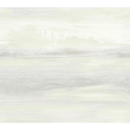 Candice Olson Tranquil White Scenic Wallpaper
