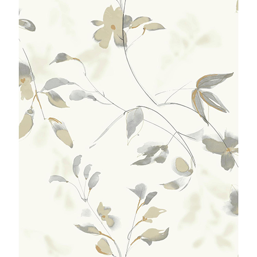 Candice Olson Tranquil Tan Floral Wallpaper