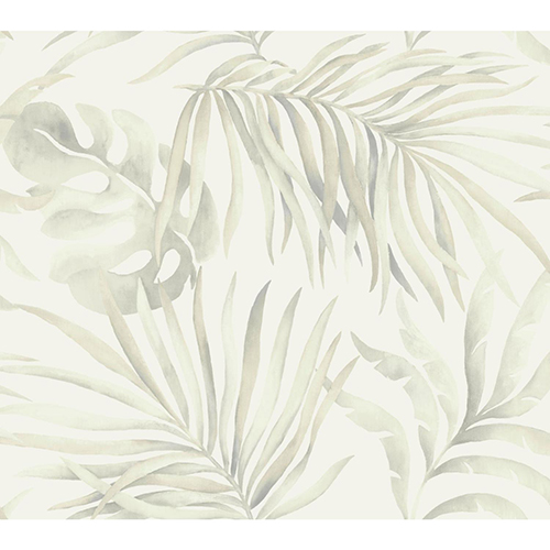 Candice Olson Tranquil Gray Palm Wallpaper - SAMPLE SWATCH ONLY