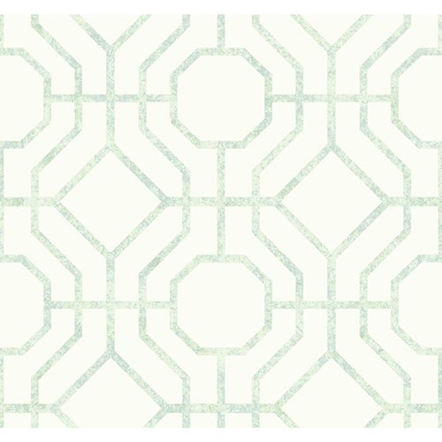 Candice Olson Tranquil Light Green Trellis Wallpaper