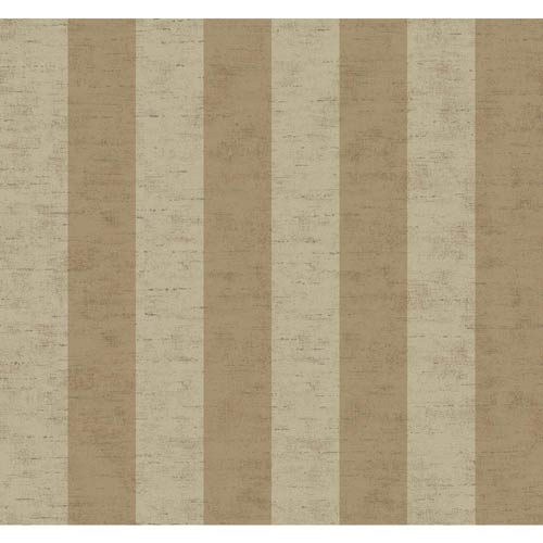 York Wallcoverings Inspired by Color Light Brown and Gray Wallpaper: Sample Swatch Only