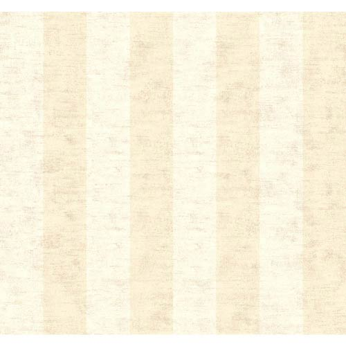 York Wallcoverings Inspired by Color Beige 3-Inch Wide Stripe Wallpaper