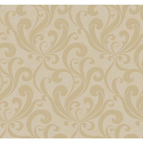 York Wallcoverings Inspired by Color Light Metallic Taupe and Light Brown Wallpaper: Sample Swatch Only