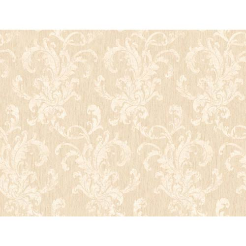 York Wallcoverings Inspired by Color Cream and Beige Metallic Wallpaper: Sample Swatch Only