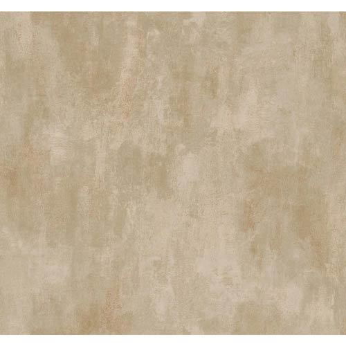 York Wallcoverings Inspired by Color Taupe Linen Texture Wallpaper: Sample Swatch Only