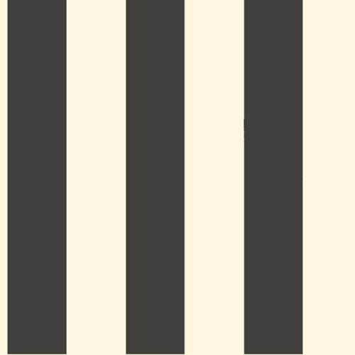 York Wallcoverings Ashford Black, White Cream and Ebony Wallpaper: Sample Swatch Only