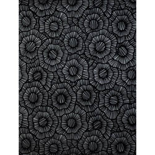 Stacy Garcia Paper Muse Dark Grey and Black Wild Poppies Wallpaper