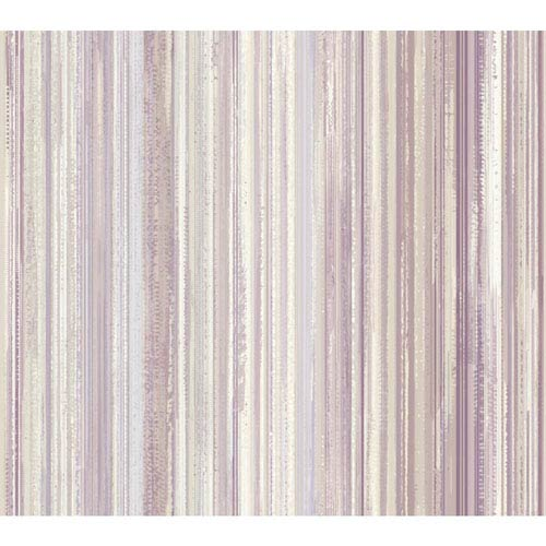 Stacy Garcia Paper Muse Cream and Purple Watercolor Strie Wallpaper