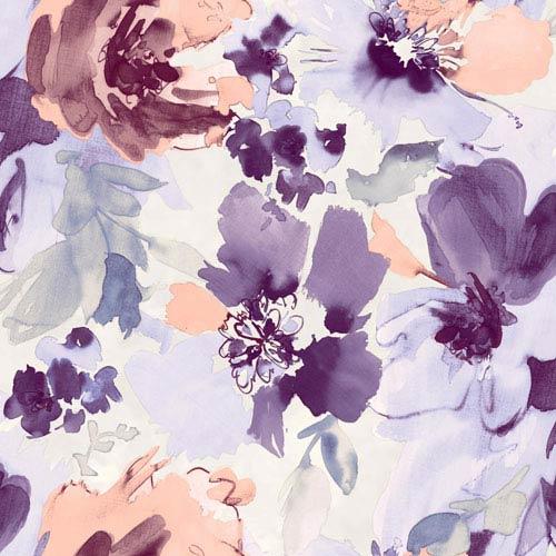 Stacy Garcia Paper Muse White and Purple Aquarella Wallpaper