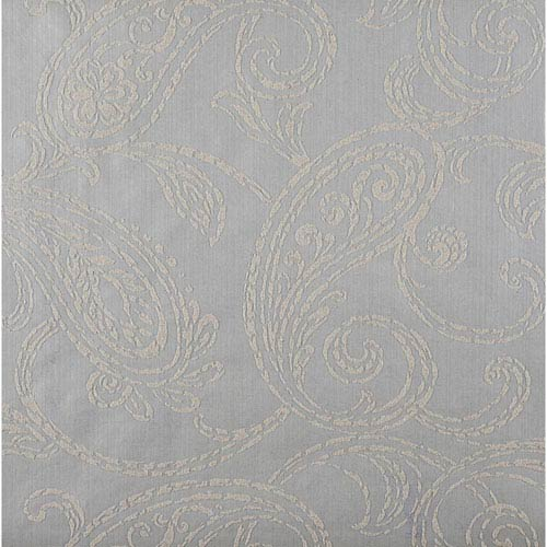 York Wallcoverings Stacy Garcia Paper Muse Metallic Silver and Grey Paisley Park Wallpaper