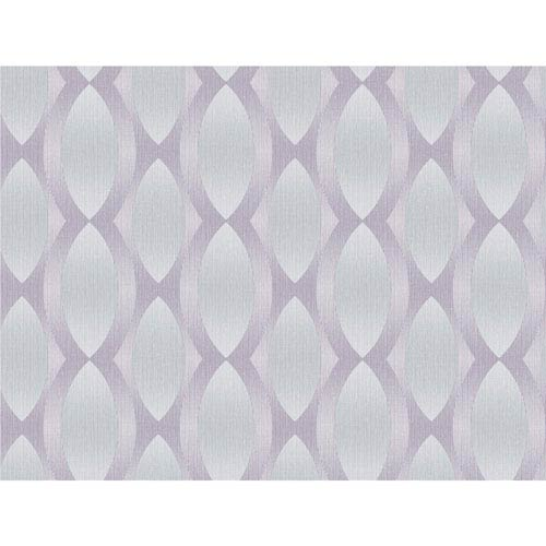 Stacy Garcia Paper Muse Silver and Purple Geo Ombre Stripe Wallpaper