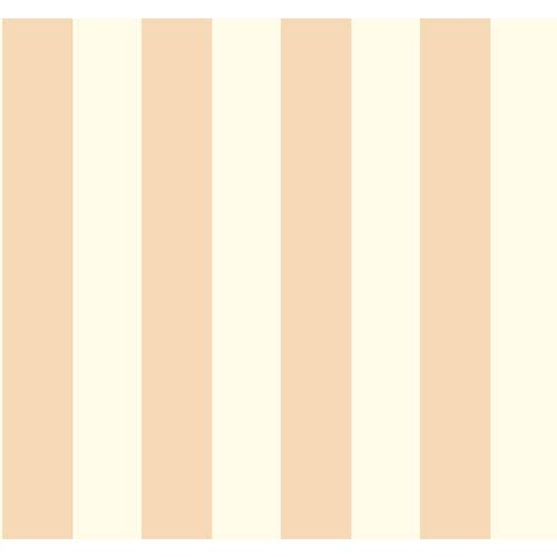 York Wallcoverings Waverly Stripes White and Beige 3-Inch Wide Stripe Wallpaper: Sample Swatch Only