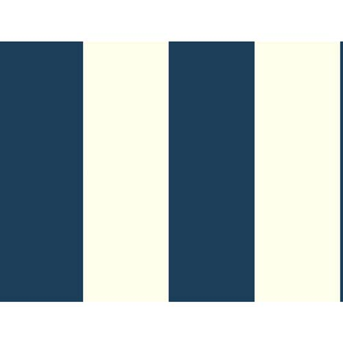 Waverly Stripes Blue Surface Stripe Wallpaper: Sample Swatch Only