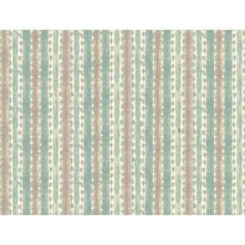 Waverly Stripes Java Journey Wallpaper: Sample Swatch Only
