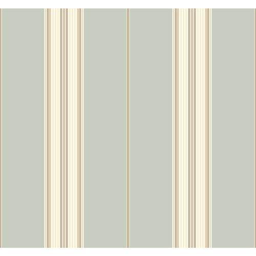 York Wallcoverings Waverly Stripes Down The Lane Wallpaper