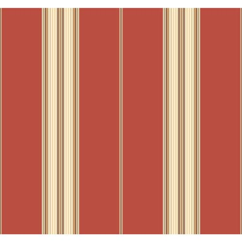York Wallcoverings Waverly Stripes Down The Lane Wallpaper: Sample Swatch Only