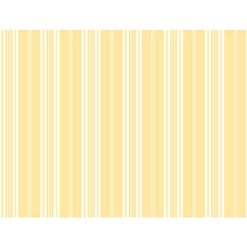 York Wallcoverings Waverly Stripes Yellow Bootcut Stripe Wallpaper: Sample Swatch Only