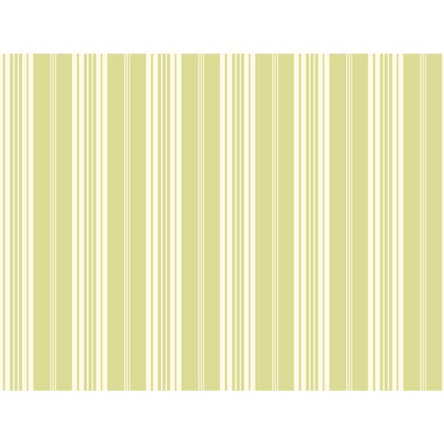 Waverly Stripes Green Bootcut Stripe Wallpaper: Sample Swatch Only
