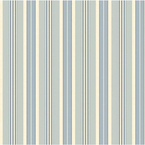 York Wallcoverings Waverly Stripes Long Hill Wallpaper: Sample Swatch Only
