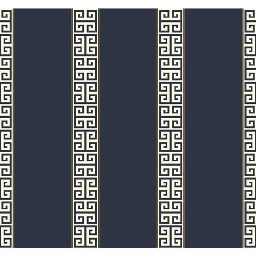 Waverly Stripes Greek Key Stripe Wallpaper